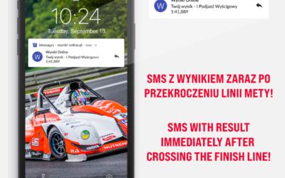 SMS z wynikami dla zawodników